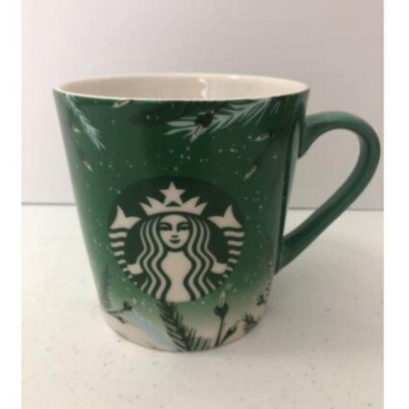 Starbucks Mug 2020 Christmas Holiday Pine Branches Lights 18oz Coffee Cup